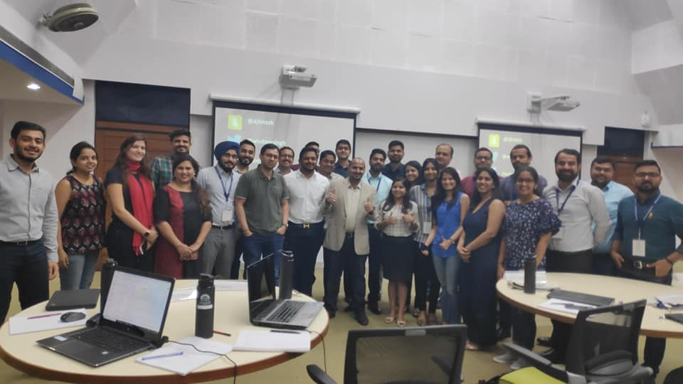 Conducting Digital Marketing Training for CMO's at IIM Banagalore in 2019